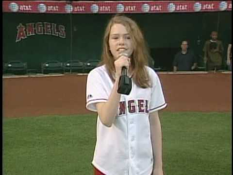 Kelsey Lee Smith singing National Anthem for the Anaheim Angels Baseball game on July 1, 2008.