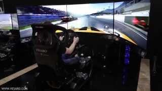 Vesaro Launch the Worlds First Curved OLED 55 Inch Triple display Full motion racing simulator