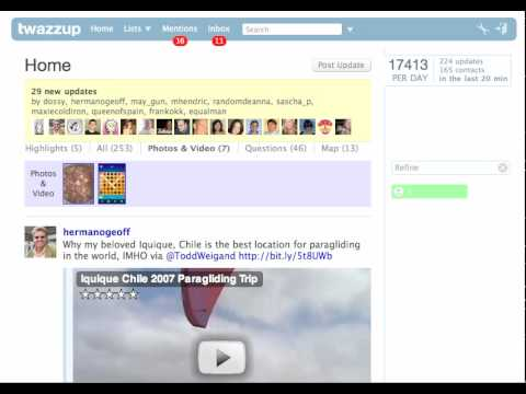 First Video of Twazzup s New Twitter Web Client - In Beta
