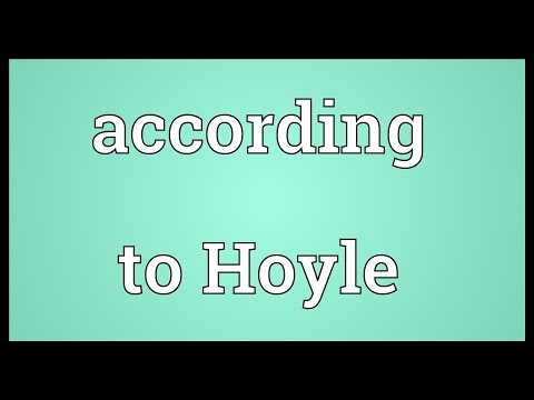 Header of according to Hoyle