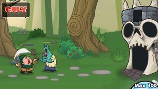 Trò chơi nông dân đánh zombie phá lâu đài quỷ - cu lỳ chơi game lồng tiếng vui nhộn