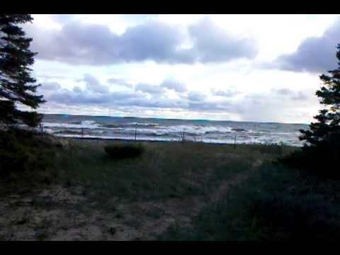 Waves on Lake Michigan Sept 3rd 2010