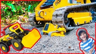 Bruder Toy Dozer Vs Real Tractor + Tonka Toy Loader Review