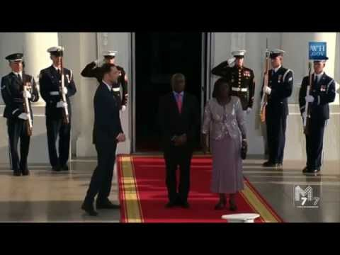 President of the Republic of Guinea-Bissau Jose Mario Vaz and spouse Rosa Teixeira Goudiaby Vaz