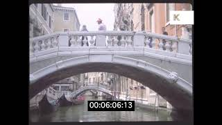 1970s Venice Landmarks and Street Scenes, Piazza San Marco, Saint Mark's Basilica, HD from 35mm