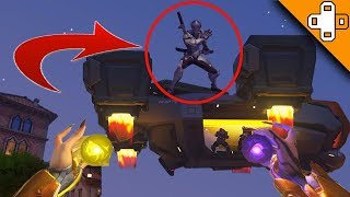 GENJI *FLIES OFF* ON TALON DROPSHIP! Overwatch Funny & Epic Moments 452