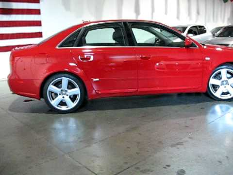 Check out this Beautiful Red with Black Leather 2006 Audi A4 Quattro at www.DAngeloAutoSales.com.