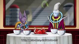 Beerus finds out Bulma's secret | Dragon ball super episode 68 | English Subbed