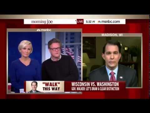 Wisconsin Gov. Scott Walker on MSNBC's Morning Joe