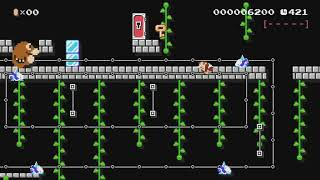 Donkey Kong Jr. by Diego - Super Mario Maker - No Commentary
