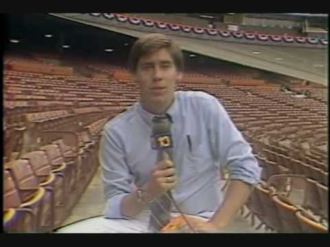 Anaheim, Ca. 1986 American League Championship Series. Angels vs. Red Sox. Ron Futrell interviews Marty Barett KTNV TV.