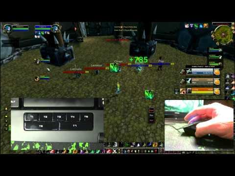 World of Warcraft Swifty Nonclicker ft. Razer Naga / Razer Anansi (WoW Gameplay/Commentary)