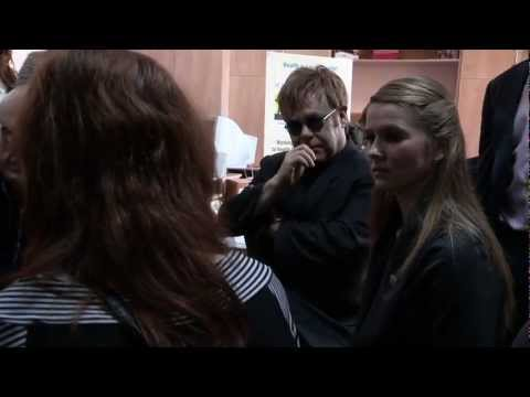 Ahead of World AIDS Day 2011, Elton & David Visit EJAF Projects in Ukraine