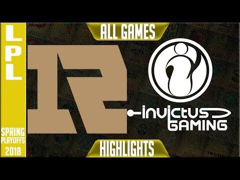 RNG vs IG Highlights ALL GAMES | LPL Playoffs Semi final Spring 2018 | RNG vs Invictus Gaming