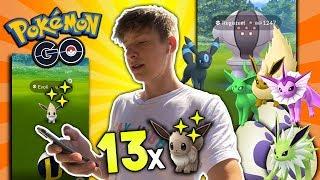 13 Shiny Evoli fangen! 100%?✨ Registeel und Despotar • Pokémon Go deutsch