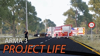 Arma 3 Project Life Beta - Iron Mining Struggles and Car Accidents