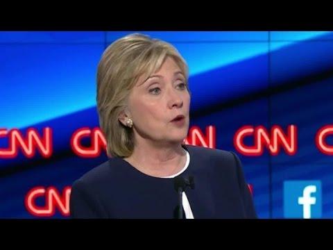 (Democratic Debate) Hillary Clinton discusses marijuana legalization
