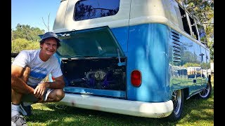 300 h.p. Turbo Subaru Motor Install in 62 VW Bus: (van life, rv living, split screen)