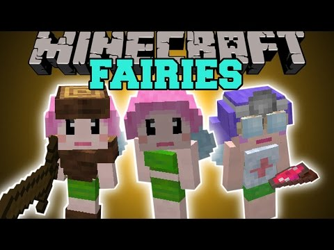 Minecraft: FAIRY MOD (CREATE AN ARMY OR BECOME YOUR SERVANTS!) Mod Showcase