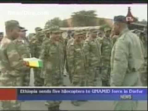 Ethiopia sends five helicopters to UNAMID force in Darfur