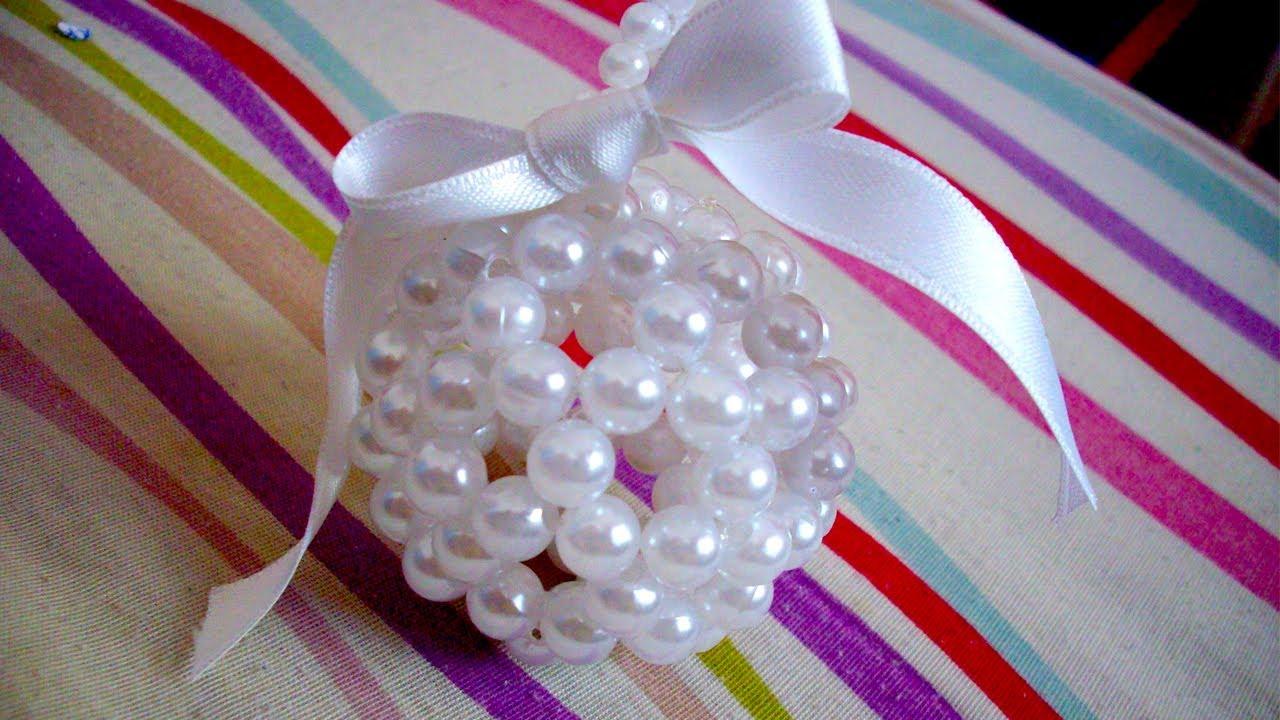 Adornitos navide os copados c mo hacer esferas con tanza - Como realizar adornos navidenos ...