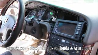 How to change replace install radio navigation screen 1999 2000 2001 2002 2003 Acura TL Replacement