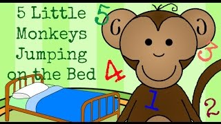 Five Little Monkeys Jumping On The Bed | Childrens Nursery Rhymes | Songs