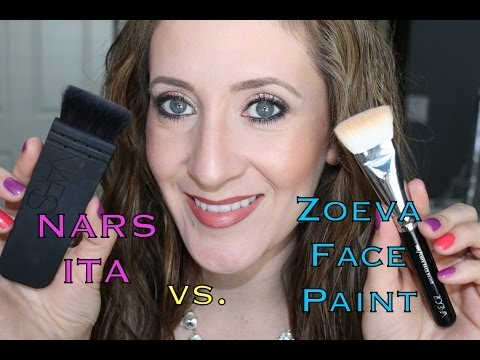 Nars ITA Brush vs. Zoeva Luxe Face Paint Brush   Is it a Dupe?