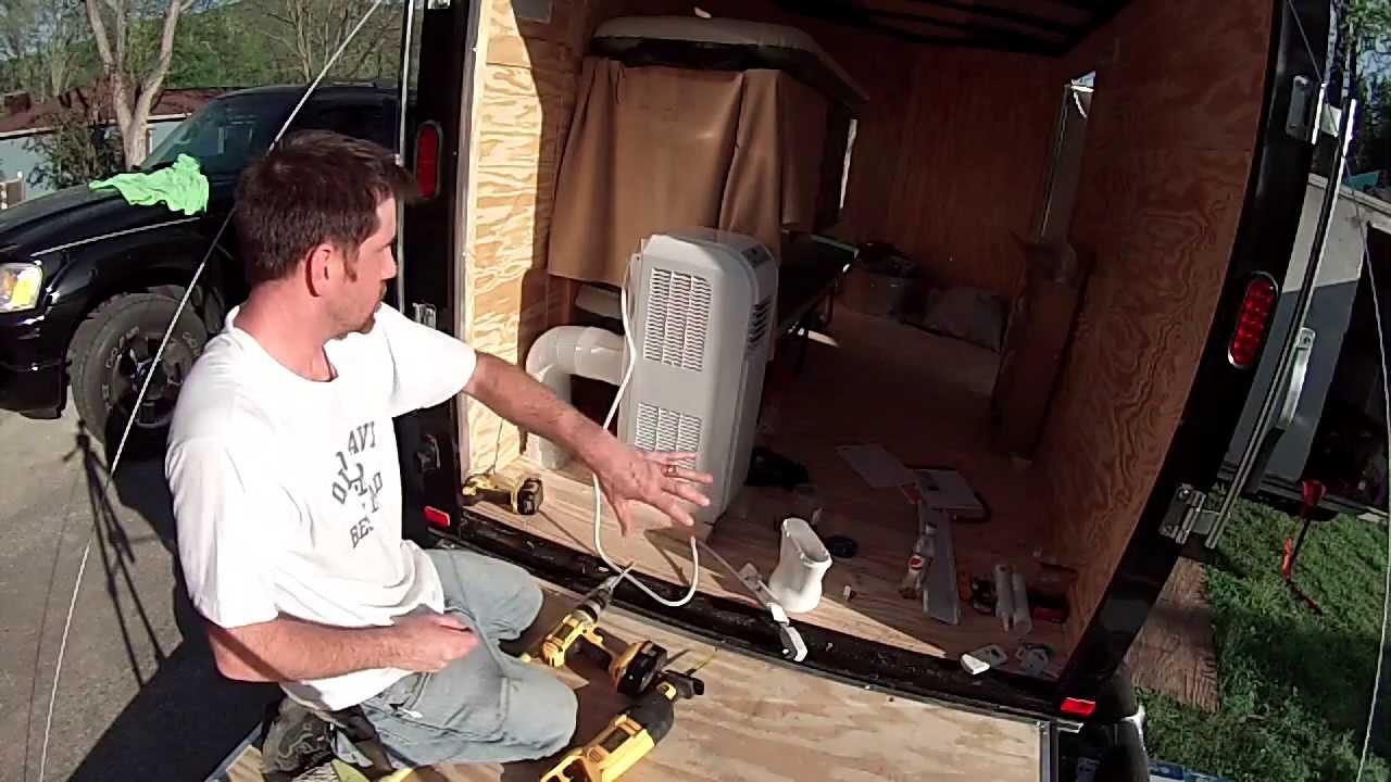 Air Conditioner Installation 6x10 Enclosed Trailer