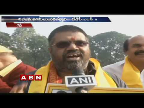 TDP MPs protest in Parliament over Andhra Pradesh special status | ABN Telugu