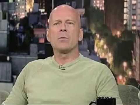 Bruce Willis at Letterman-funny!! lol