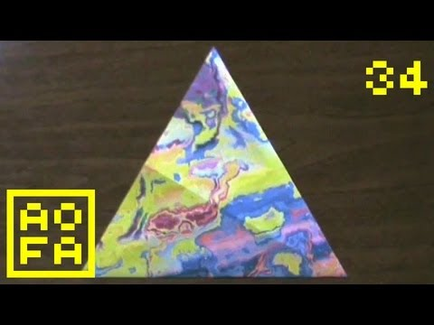 How to make an Origami Equilateral Triangle ...(Geometry) for all (34)