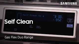 01. How to use the Self Clean feature on Flex Duo ovens and ranges | Samsung US