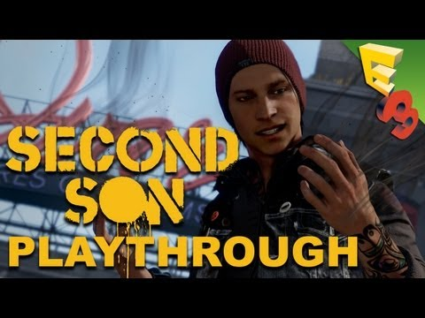 Infamous Second Son Gameplay Walkthrough with Sucker Punch! Adam Sessler at E3 2013!