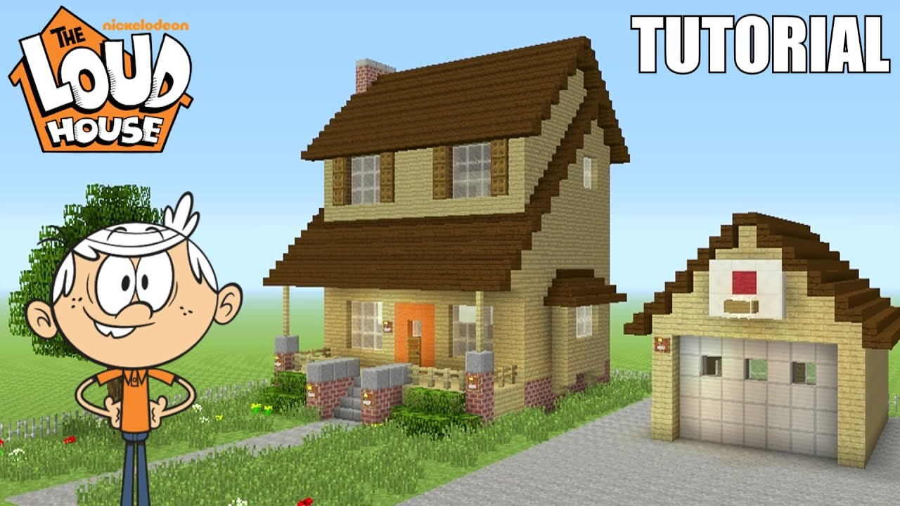 """Minecraft Tutorial: How To Make """"The Loud House"""" House! """"The Loud House"""" (Survival House)"""