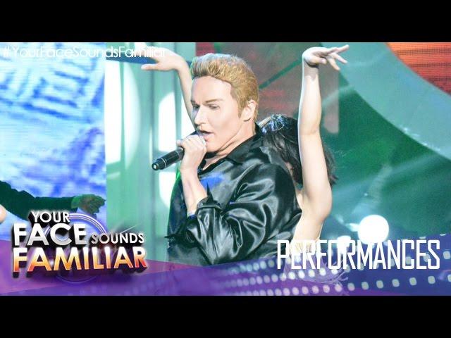 """Your Face Sounds Familiar: Kean Cipriano as Ricky Martin - """"Livin' La Vida Loca"""""""