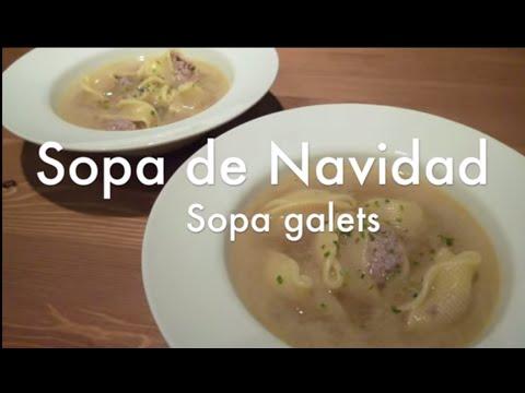 Sopa de navidad galets nadal - Recetas de cocina