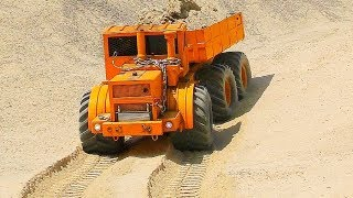 HEAVY RC CONSTRUCTION SITE! VOLVO LOADER L250 WITH SPECIAL TIRES!