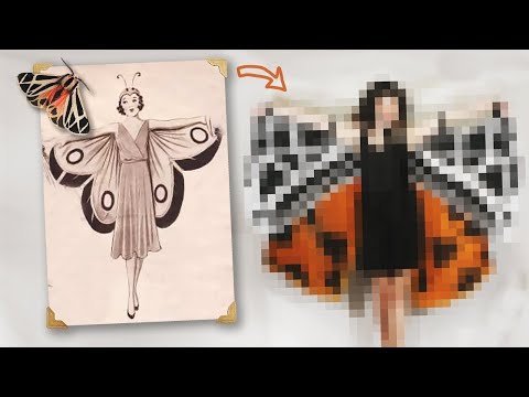 I Tried Recreating This Retro Butterfly Costume