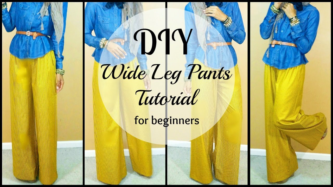 diy how to sew wide leg pants for beginners youtube