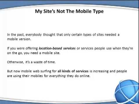Are You Ignoring The Mobile Market | 800-960-4846