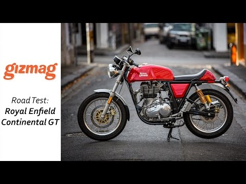 2015 Royal Enfield Continental GT: Loz isn't cool enough for this bike...