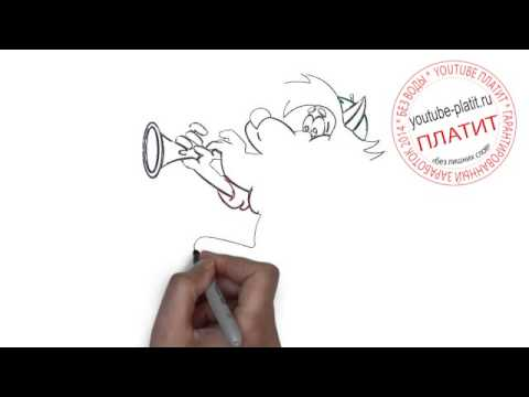Видео как нарисовать мультик карандашом поэтапно