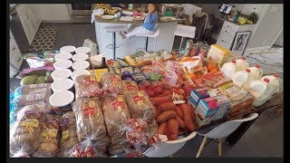 Once-A-Month GROCERY HAUL APRIL for our LARGE FAMILY.  THM, budgets, 4 stores!