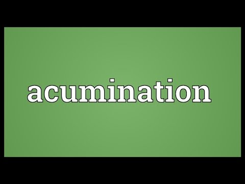 Header of Acumination