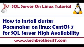 How to install cluster Pacemaker on linux CentOS 7 for SQL Server High Availability