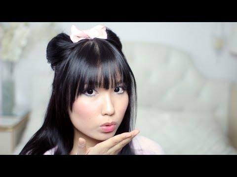 Cute Minnie Mouse Ears Half Updo & Bow DIY