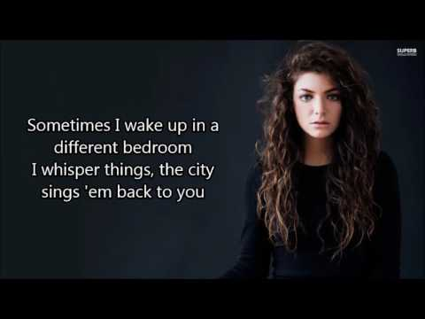 Lorde -  Green light (lyrics)