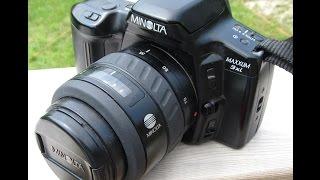Minolta Maxxum 3xi 35mm SLR camera (1994) + test photos