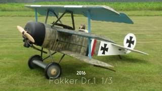 Fokker Dr.1 1/3 with Valach VM 120B2-4T